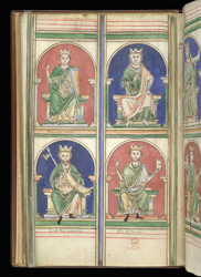 Edmund And Other Early English Kings, In Matthew Paris's 'Epitome Of Chronicles'